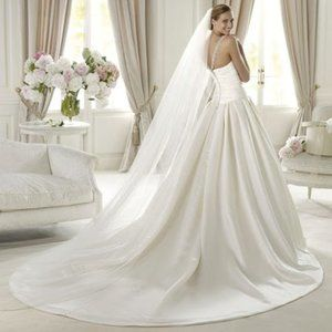 Pronovias Satin Ball Gown